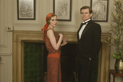 Downton Abbey Cast S4: Lady Edith Crawley (LAURA CARMICHAEL), Michael Gregson (CHARLES EDWARDS)
