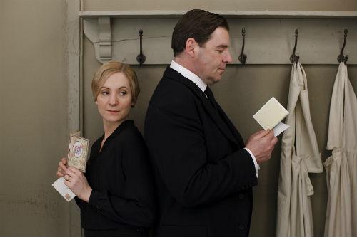 Downton Abbey Cast S4: Anna Bates (JOANNE FROGGATT), John Bates (BRENDAN COYLE)