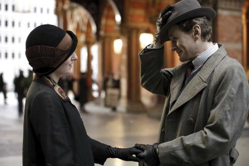 Downton Abbey S4E1: Lady Edith Crawley (LAURA CARMICHAEL), Michael Gregson (CHARLES EDWARDS)