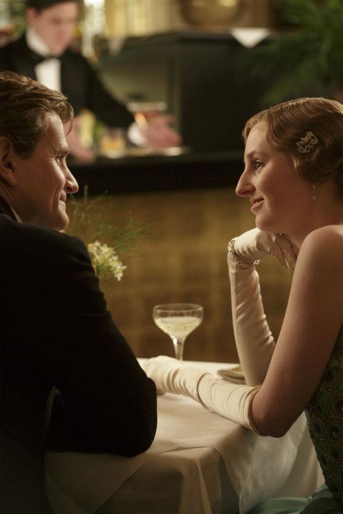 Downton Abbey S4E1: Michael Gregson (CHARLES EDWARDS), Lady Edith Crawley (LAURA CARMICHAEL)