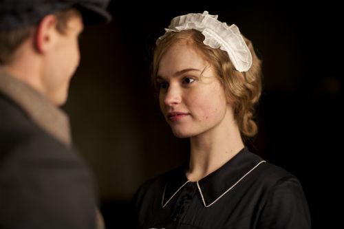 Downton Abbey S4E2: Sam Thawley (JONATHAN HOWARD), Lady Rose MacClare (LILY JAMES)