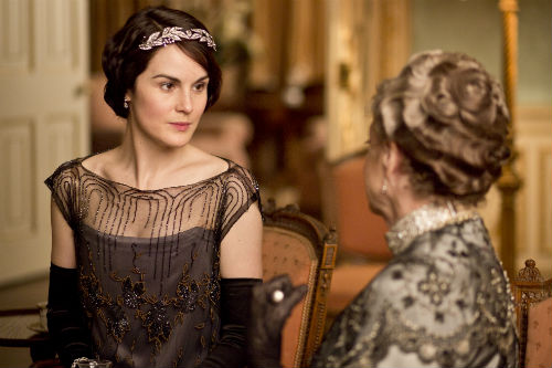Downton Abbey S4E3: Lady Mary Crawley (MICHELLE DOCKERY), Violet Crawley, Dowager Countess of Grantham (MAGGIE SMITH)