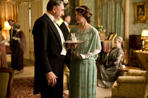 Downton Abbey S4E3: Mr. Carson (JIM CARTER), Cora Crawley, Lady Grantham (ELIZABETH MCGOVERN)