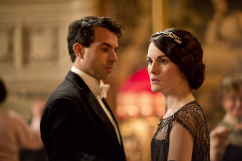 Downton Abbey S4E3: Anthony Gillingham (TOM CULLEN), Lady Mary Crawley (MICHELLE DOCKERY)