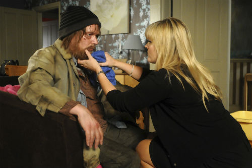 EastEnders Weekender June 27: Ian Beale (ADAM WOODYATT), Tanya Cross (JO JOYNER) Photo: Kieron McCarron ©BBC 2012