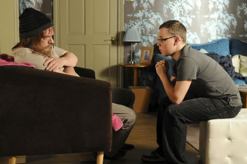 EastEnders Weekender June 27: Ian Beale (ADAM WOODYATT), Ben Mitchell (JOSHUA PASCOE)Photo: Kieron McCarron ©BBC 2012