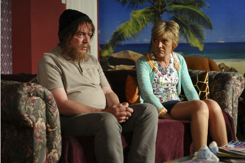 EastEnders Weekender June 27:  Ian Beale (ADAM WOODYATT), Jean Slater (GILLIAN WRIGHT) Photo: Kieron McCarron ©BBC 2012