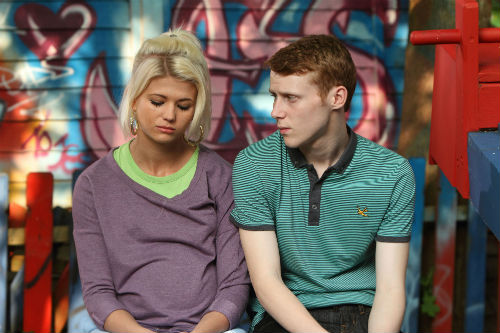 EastEnders Weekender June 13: Jay Mitchell (Jamie Borthwick), Lola (DANIELLE HAROLD) Photo: Jack Barnes ©BBC 2012