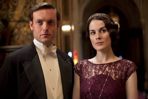 Downton Abbey S4E5: Evelyn Napier (BRENDAN PATRICK), Mary Crawley (MICHELLE DOCKERY)