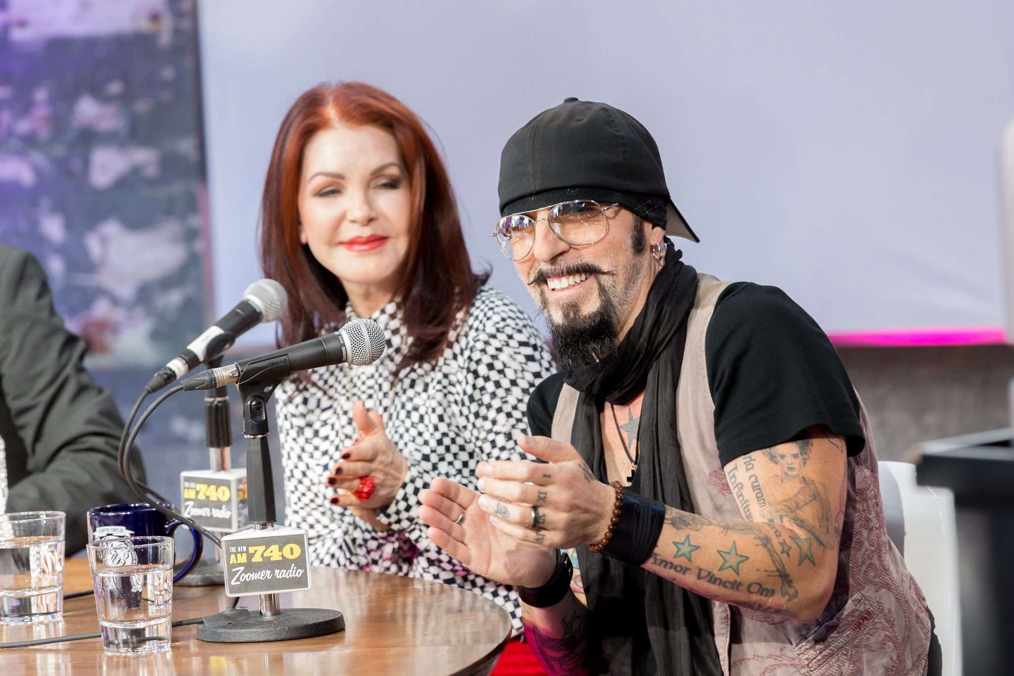 Priscilla Presley and Christopher Ameruoso at ZoomerPlex © Jeff Higgins Photography