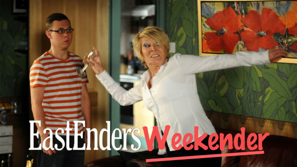 EastEnders Weekender June 30 - July 4, 2014: Ben Mitchell, Shirley Mitchell (JOSHUA PASCOE, LINDA HENRY) (c) BBC 2012