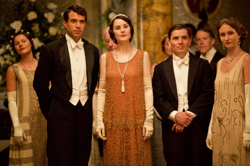 Downton Abbey S4: Tony Gillingham (TOM CULLEN), Mary Crawley (MICHELLE DOCKERY)