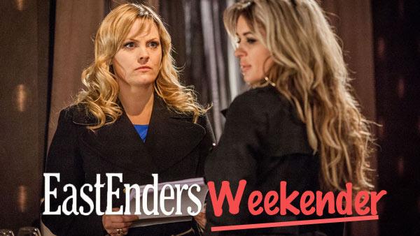 EastEnders Weekender (Oct. 31 & Nov. 1, 2014) : Tanya Cross (JO JOYNER), Kirsty Branning (KIERSTON WAREING) Photo: Guy Levy (c) BBC 2012