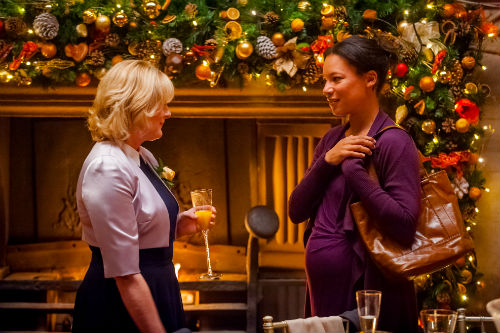 Last Tango Look Back S2E6: Caroline (SARAH LANCASHIRE), Kate (NINA SOSANYA) Photo: Ben Blackall © Anthony and Cleopatra Series Ltd. 2013
