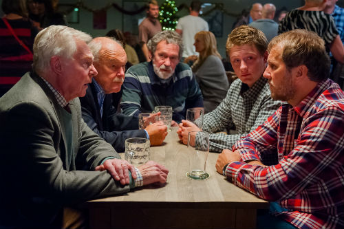 Last Tango Look Back S2E6: (DEREK JACOBI), Ted (TIMOTHY WEST), Harry (PAUL COPLEY), Raff (JOSH BOLT), Robbie (DEAN ANDREWS) Photo: Ben Blackall © Anthony and Cleopatra Series Ltd. 2013