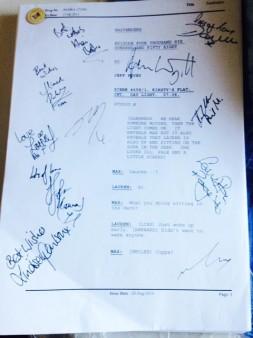 EastEnders Swag Sweepstakes 2: Signed Shooting Script