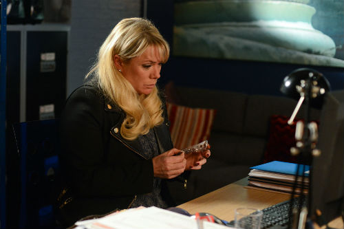 EastEnders Weekender: Sharon Rickman (LETITIA DEAN) Photo: Kieron McCarron © BBC 2013