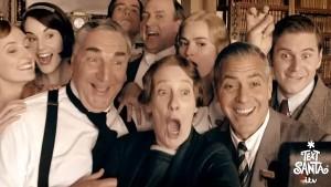 Downton Abbey for Text Santa - Cast Selfie