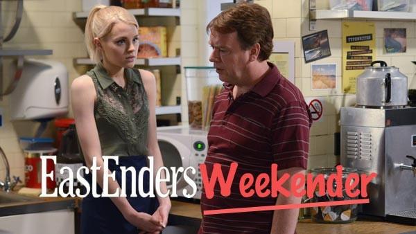 EastEnders Weekender (Feb 27 & 28, 2015) Lucy Beale (HETTI BYWATER), Ian Beale (ADAM WOODYATT): Photo Kieron McCarron (c) BBC 2013