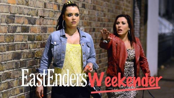 EastEnders Weekender (March 13, & 14, 2015): Whitney Dean (SHONA McGARTY), Kat Moon (JESSIE WALLACE) (c) BBC 2013