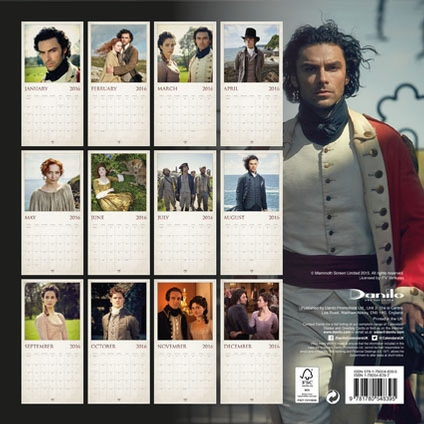 Poldark Official 2016 Calendar Layout