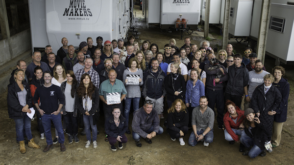"Members of the ""Doc Martin"" cast and crew pose for a group photo after wrapping the show's seventh season."