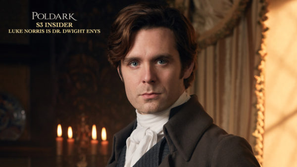 Poldark S3 Insider: Luke Norris is Dr. Dwight Enys