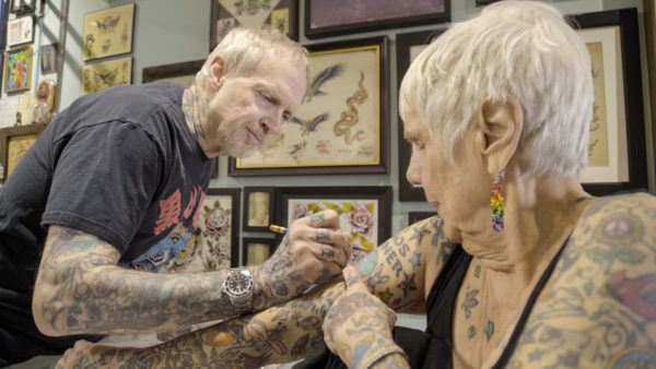Radical Age: Helen Lambin with tattoo artist David McNair at Chicago Tattoo Co