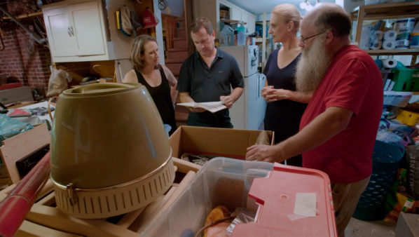 Big Downsize S1 - Maria, Donald and Malcolm McNeil rummage through their stuff with Jane