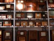 Wall of television sets