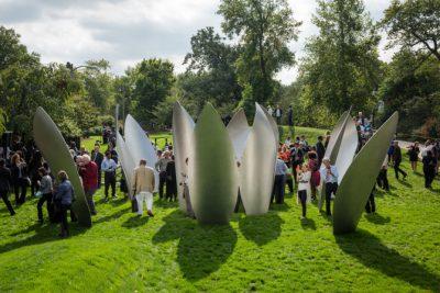 SKYLANDING, a permanent art display created by Yoko Ono, in Jackson Park. | Santiago Covarrubias/Sun-Times