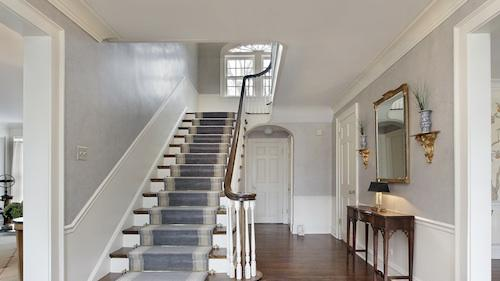 Staircase entryway as pictured today