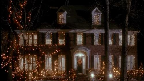 Outside the house in Home Alone 2