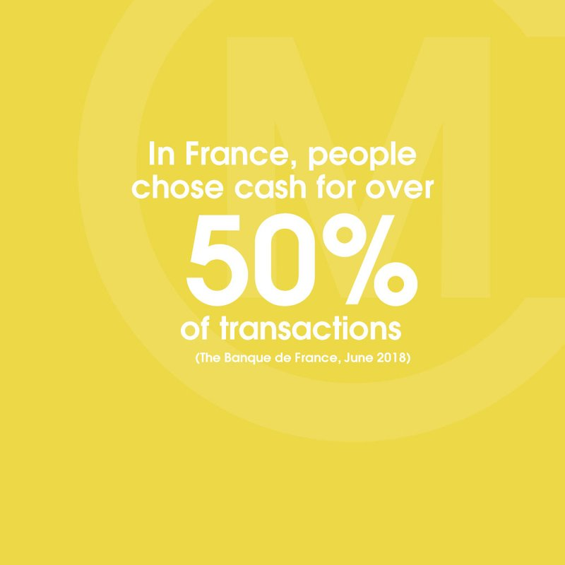 cash is used for more than 50% of payments STAT BLOCK banque de france yellow