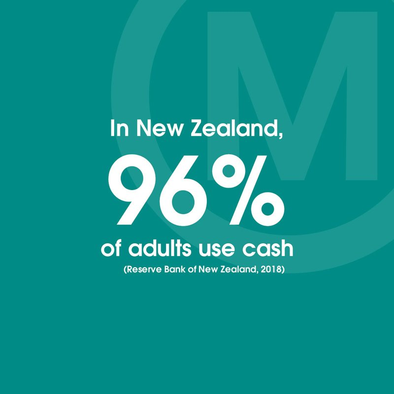 STAT 96% of New Zealand's adult population use cash TW IN