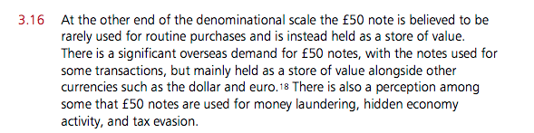Snippet from UK Treasury Consultation Document