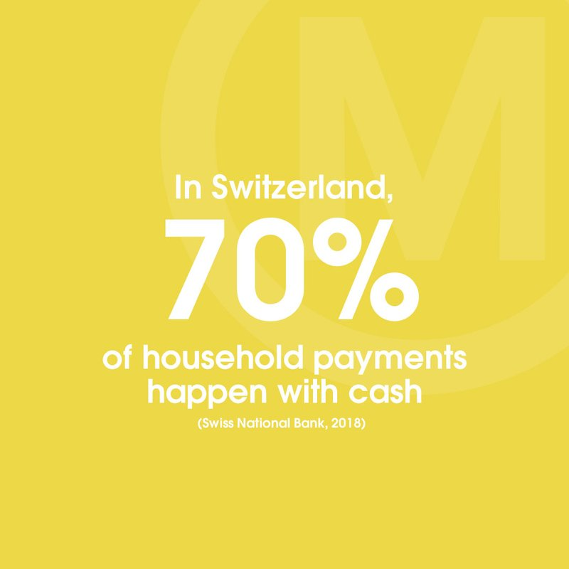 swiss national bank 70pc household payments cash STAT Tw In