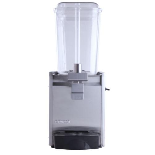Refresquera refrigerada con 1 tanque plástico de 18 litros, sistema de spray, paneles en acero inoxidable, bandeja de goteo en plástico
