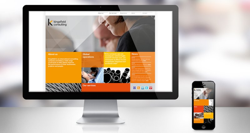 Kingsfield branding website