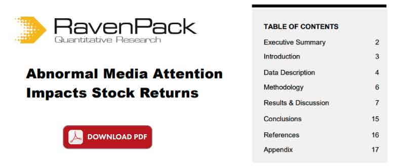 Abnormal Media Attention Impacts Stock Returns