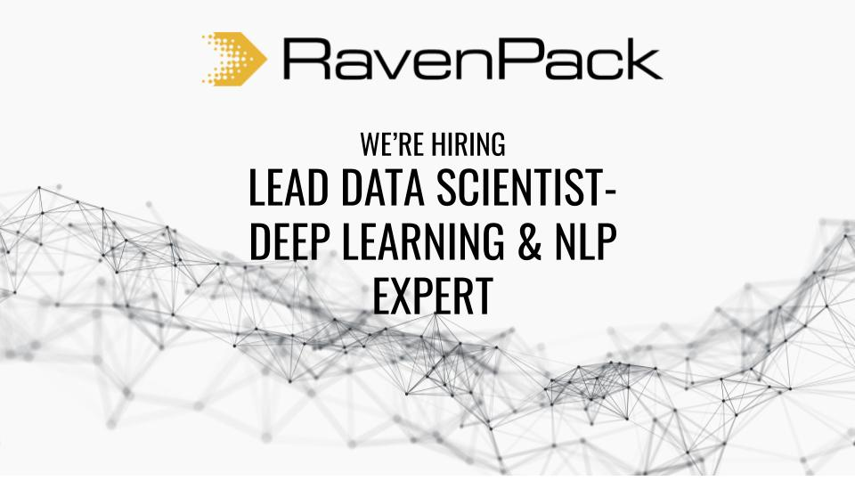 Lead Data Scientist - Deep Learning and NLP Expert