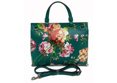 Bolsa Bamboo Daily Top Handle Blooms Print Gucci
