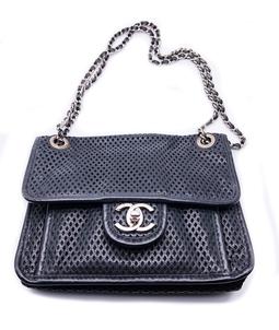 Bolsa Perforated Veau Flap Bag Small