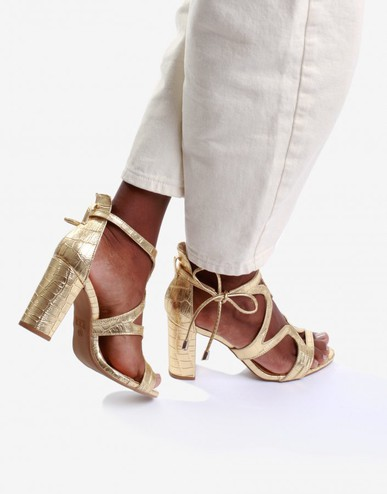 Sandália Fancy Dourada Inbox