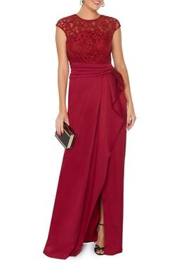 Vestido Abna Vinho