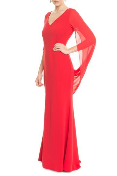 Vestido Anelise Red Badgley Mischka