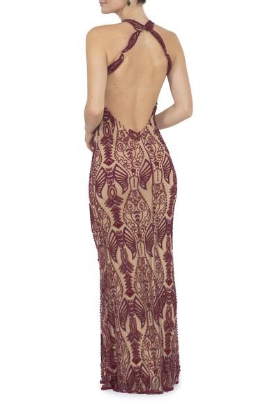 Vestido Arakian Marsala Prime Collection