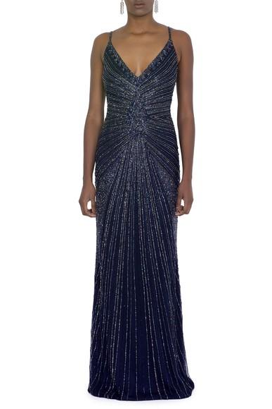 Vestido Ariadne Dark Blue Prime Collection