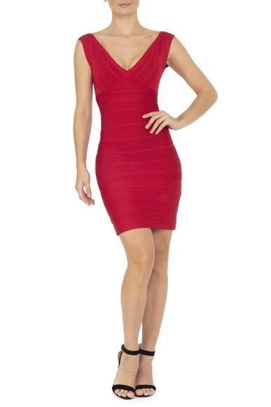 Vestido Astin Red Herve Leger