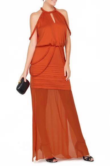 Vestido Ayra Orange Pynablu